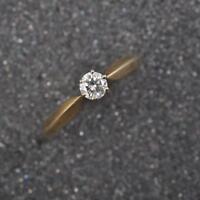 Brillant Solitär Ring, 14 Karat / 585er Gold, 0,25ct vsi / Wesselton, Gr 58