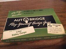 Autobridge 1957 Pay Yourself Bridge Game Latest Bidding Changes Green