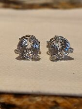Silver Cubic Zirconia Stud Earrings New listing