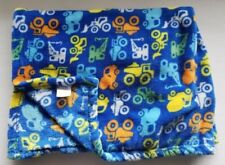 Baby Gear Blanket Blue Orange Yellow Cement Dump Truck Blue Lovey Construction