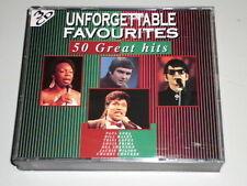Unforgettable Favourites 50 Great Hits 3 CD 'S PAUL ANKA Bill Haley Gene Pitney
