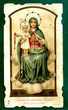 santino antico Regina Sacratissimi Rosari cromo Santa Lega HOLY CARD santini