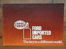 FORD USA & Australia Imported Cars orig 1977 UK Mkt brochure - Mustang Fairmont
