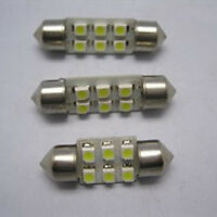 2X Fantastic Dome 6 SMD LED Car Interior Festoon Bulb C5W Light Lamp 31mm ZT