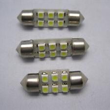 2X White 31mm 6 SMD 1210 Car Spot Lamp LED Interior Festoon Dome Bulb Light DA