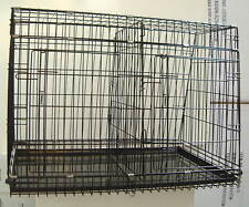Sloping Double Car Crate Cage with Divider & Doors 93x63x67cm