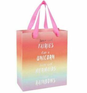 Fairy Gift Bag Medium Dance With Fairies Rainbow Unicorn Mermaids Girls Birthday