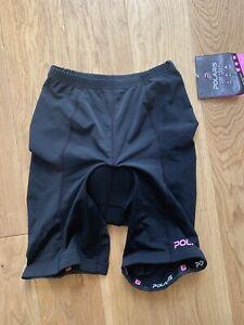 POLARIS Bikewear Shorts Cycling Padded Black Womens Size 10