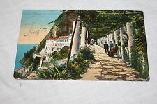 Vintage 1914 Amalfi Albergo Dei Capuccino Italy Postcard