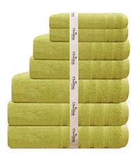 7. Pce Set Egyptian 100% Cotton Luxury Charlton Bath Towel Set- Citrus Lemon