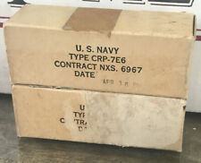 Vintage 2 U.S. Navy Electronic Tubes CRP 7E6 NEW IN BOX