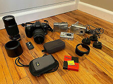 Lot of Assorted Untested Cameras & Accessories for PARTS/REPAIR