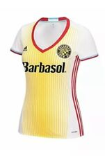 Adidas Columbus Crew SC MLS Soccer Jersey Women's Large White Yellow NEW $75