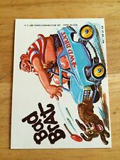 1980 TOPPS WEIRD WHEELS STICKER BAD BRAT BULLY WACKY PACKAGES CHARACTER 12 CAR