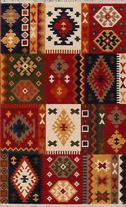 Patchwork Kazak Traditional Oriental Turkish Area Rug 5x8 Foyer Geometric Carpet