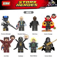 Baukästen 8PCS Superhero Krieg Superman Spielzeug Marvel's Avengers Widow