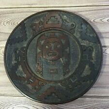 Vintage Wooden Plate Dish Old Carved Craft Handmade African Home Wall Decorative