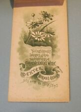1893 Dexter Normal College Commencement Program & Class List Iowa Rare Defunct