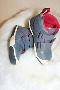 Plae Boys Hightop Sneakers 11 gray and red