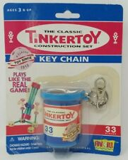 Tinkertoy Key Chain 33 Pieces Classic Construction Set Keychain Hasbro 2001 New