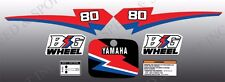 YAMAHA 1990 BW80 STANDARD DECAL GRAPHIC KIT (may blister/bubble on tank)