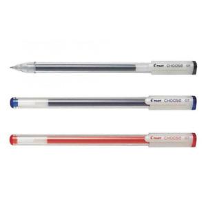 Pilot Choose Gel Pens Pack x3 Black Blue Red 0.7 BeGreen Range Pigment Ink BLCH7