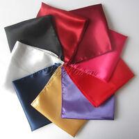 "50pcs Satin Table Napkin or Handkerchief 12"" Square Multi Purpose Dinner Decor"