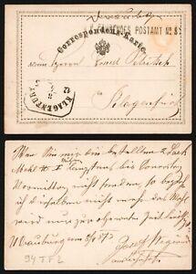 Austria 1887 - Postal Stationery to Klagenfurt D140