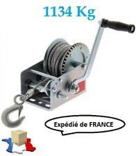 Treuil Manuel 1134 Kg 2 vitesses pour Bateau Remorque + 10 m de câble + crochet