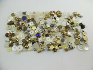 Mixed Lot of 360+ 1.4lbs Vintage and Modern Buttons - Coin Shipwreck Rhinestone