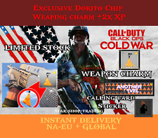 Call of Duty Black Ops Cold War Dorito Chip Charm Calling Card Sticker + 3Hr 2XP