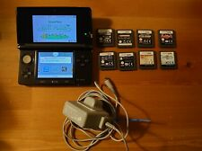 Nintendo 3DS Bundle Cosmos Black Limited Edition Console + 8 DS Games + Charger