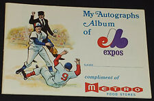 1970 - MONTREAL EXPOS AUTOGRAPH ALBUM /SCHEDULE - COMPLIMENT OF METRO FOOD STORE