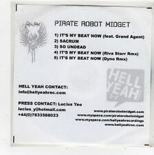 (FQ770) Pirate Robot Midget, It's My Beat Now - DJ CD