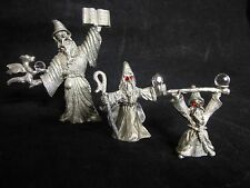 Spoontiques Pewter Crystal Ball Jewel Eye Wizard Figurines: Cmr963 Cmr537 Cm953