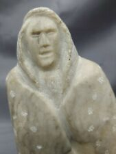Hand CarvedArtist Signed Native American Indian Stone Sculpture