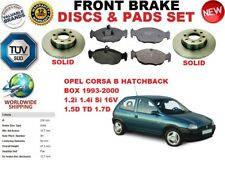 FOR OPEL CORSA B HATCHBACK BOX 93-00 FRONT SOLID BRAKE DISCS SET + BRAKE PAD KIT