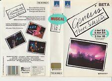Betamax *GENESIS THREE SIDES LIVE* 1982 Pre Cert Rare Thorn EMI - Concert Tour!