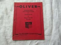 Oliver 80 tractor operator's instruction book manual