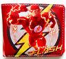 Flash DC Comic Super Hero Wallet id window Credit card slots Zipped Coin pocket