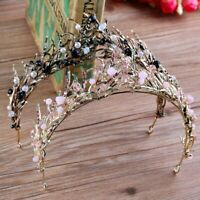Flame Tiara Crown Fashion Crystal Hair Jewelry Princess Coronet Wedding Party