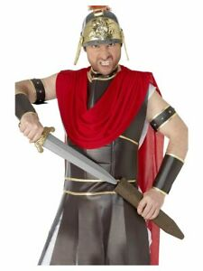 SMIFFYS 50CM SILVER ROMAN SWORD IN SCABBARD TOY GLADIATOR WARRIOR FANCY DRESS