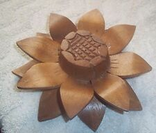 "Wood Sunflower Head 7"" Wide Simulation Flower"