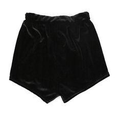Womens High Waist Elastic Crushed Velvet Pants Running Shorts Bottoms Trousers