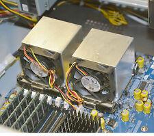 Cooler radiador ventiladores para CPU Intel Xeon socket 604 aluminio macizo Placa sujeción