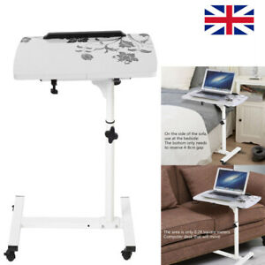 Adjustable Moveable Laptop Table Stand Sofa Bed Tray Computer Notebook Desk UK