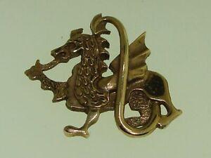 Ola gorie the Orkney maker ROSE GOLD WELSH CELTIC DRAGON PENDANT SIGNED MG!