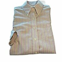 Brooks Brothers Supima Button Up Striped Shirt Size 6 Womens LS Non Iron