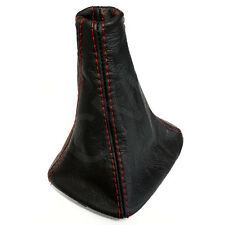 BLACK Genuine Leather Gear Shift Gaiter RED Stitch VW Polo Mk3 (6N) 1994-1999