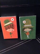 NOS NIP Vintage 1960's Set of Two 2 Decks Boy and Girl Holding Flower Stardust